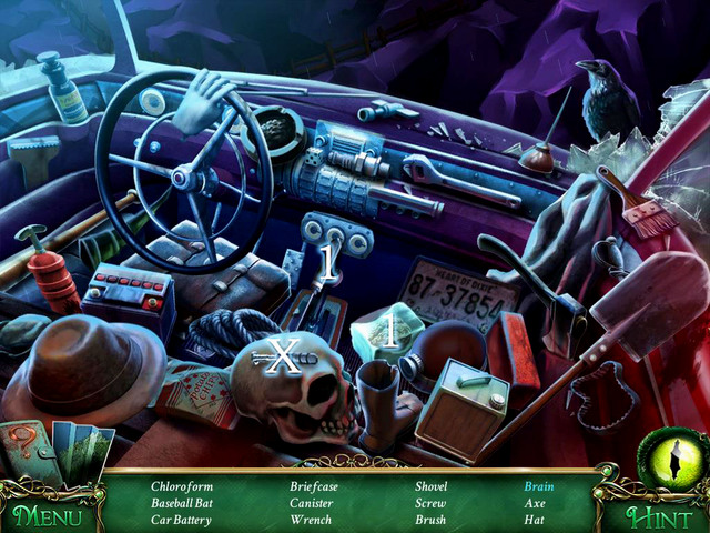 Crucial item [X] - Screw - Hidden-object scenes - Collectibles and puzzles - 9 Clues: The Secret of Serpent Creek - Game Guide and Walkthrough