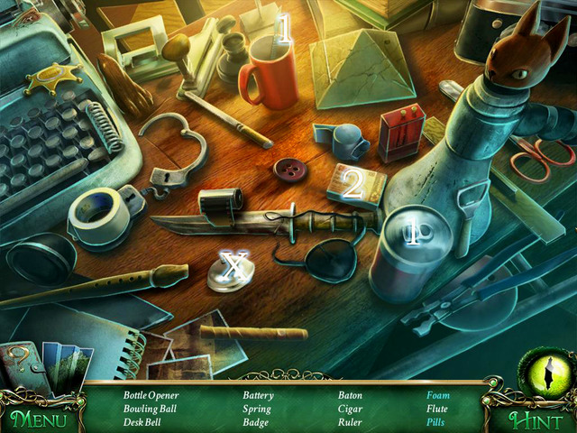 Crucial item [X] - Desk bell - Hidden-object scenes - Collectibles and puzzles - 9 Clues: The Secret of Serpent Creek - Game Guide and Walkthrough