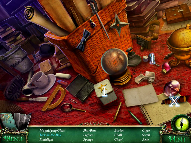 Crucial item [X] - Axle - Hidden-object scenes - Collectibles and puzzles - 9 Clues: The Secret of Serpent Creek - Game Guide and Walkthrough