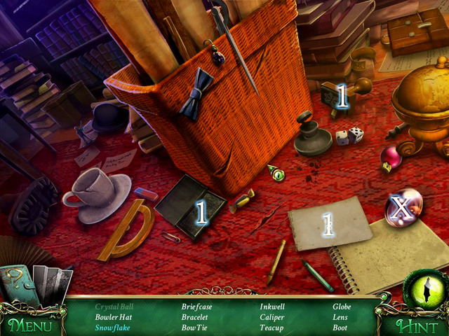 Crucial item [X] - Lens - Hidden-object scenes - Collectibles and puzzles - 9 Clues: The Secret of Serpent Creek - Game Guide and Walkthrough