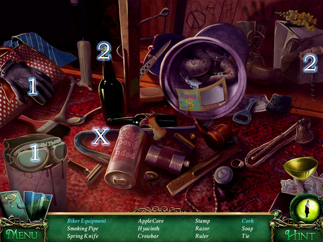 Crucial item [X] - Crowbar - Hidden-object scenes - Collectibles and puzzles - 9 Clues: The Secret of Serpent Creek - Game Guide and Walkthrough