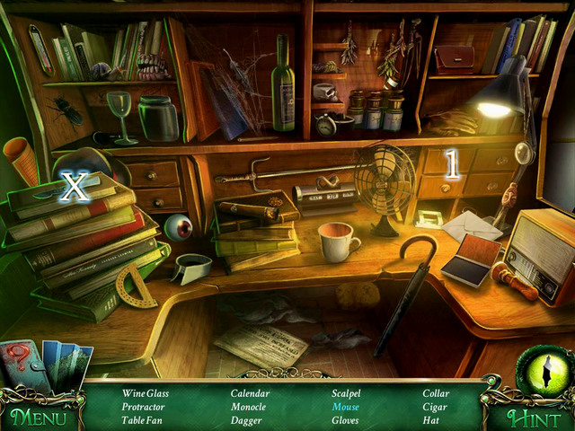 Crucial item [X] - Scalpel - Hidden-object scenes - Collectibles and puzzles - 9 Clues: The Secret of Serpent Creek - Game Guide and Walkthrough