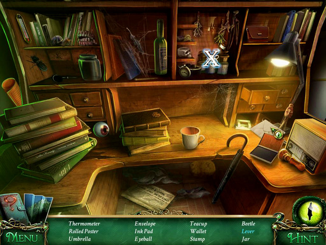 Crucial item/hidden item [X] - Move aside vials to find Lever - Hidden-object scenes - Collectibles and puzzles - 9 Clues: The Secret of Serpent Creek - Game Guide and Walkthrough