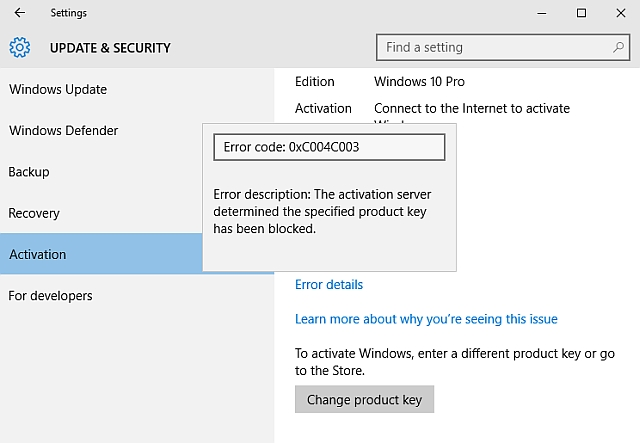 windows 10 activation key error 0xc004f050